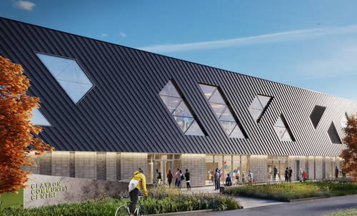 Artist's rendering of the what the new Clayton Community Centre will look like from the outside. (Photo via surrey.ca)