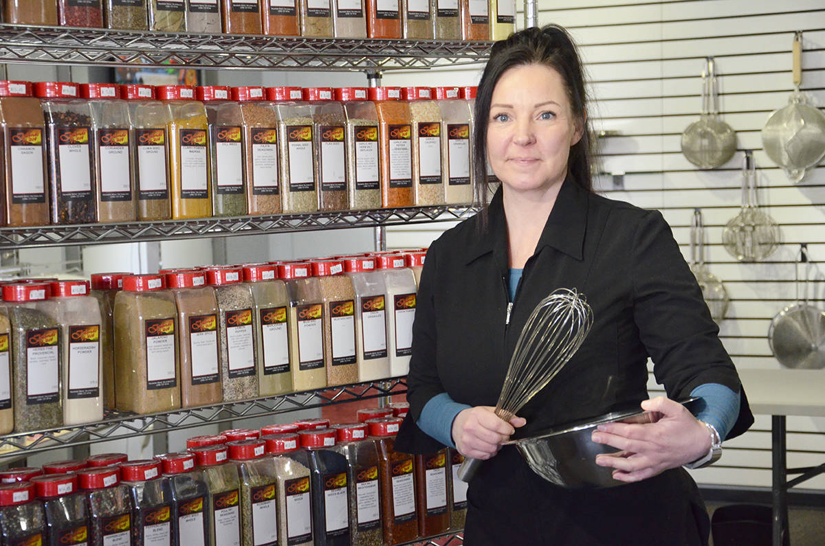 Kat Gellerman brings years of experience in the food business to her new store, Chef Sense Supplies, in downtown Courtenay. Photo by Mike Chouinard