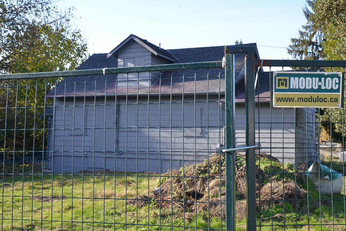 A vacant house owned by Statewood Properties near Glover Road in Fort Langley. (Langley Advance files)