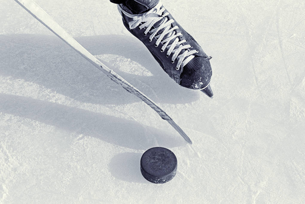 Hockey stick and puck. (Black Press Media files)