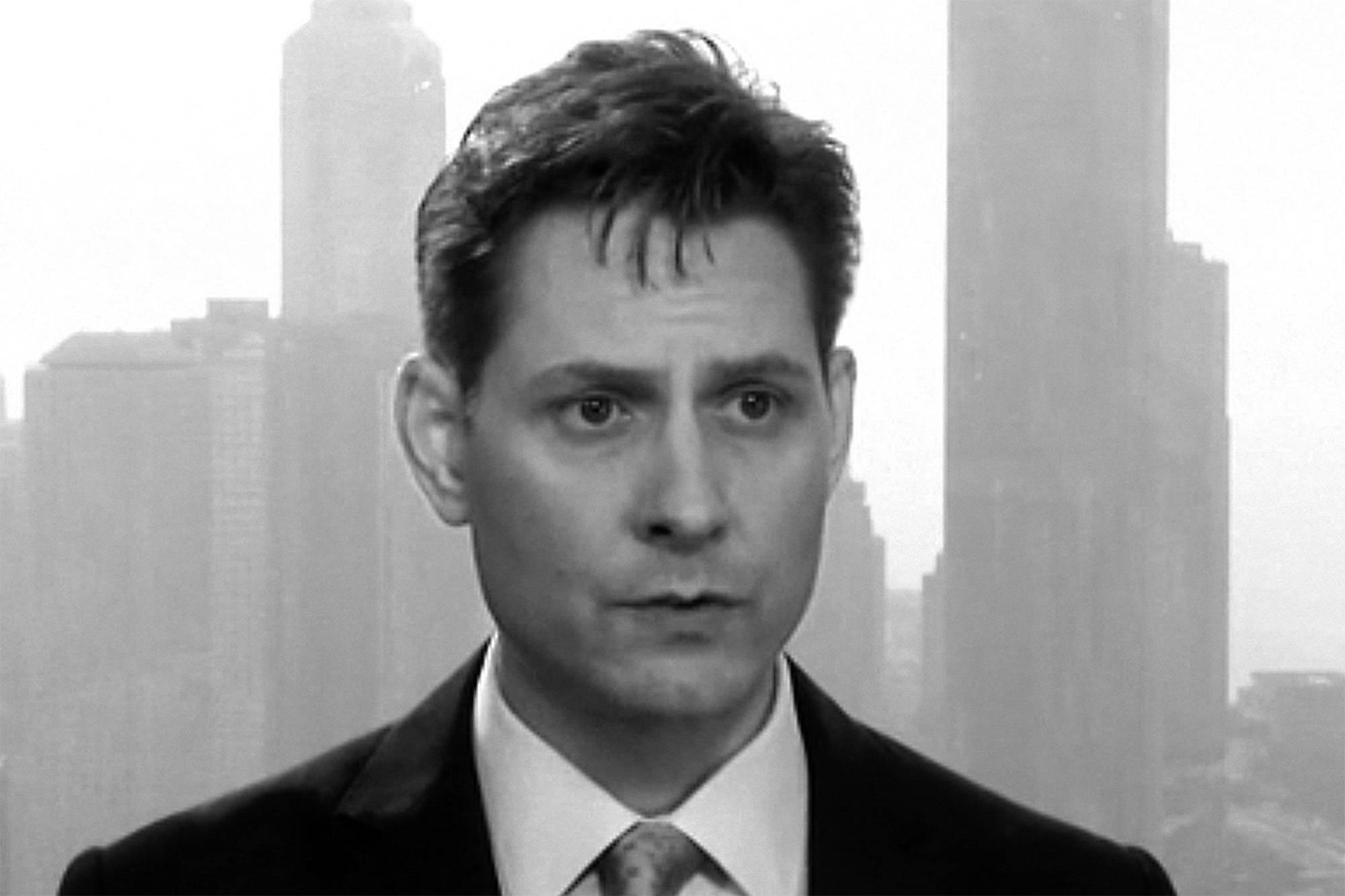 In this file image made from a video taken on March 28, 2018, Michael Kovrig, an adviser with the International Crisis Group, a Brussels-based non-governmental organization, speaks during an interview in Hong Kong.THE CANADIAN PRESS/AP