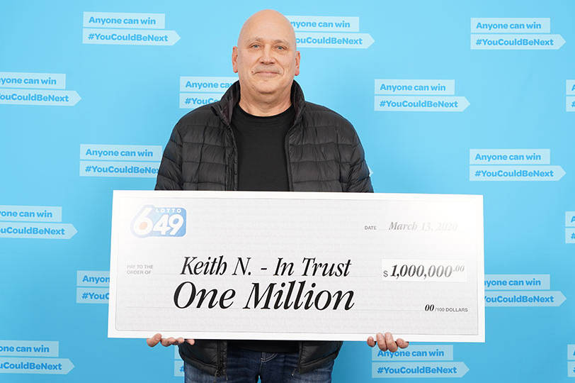 Campbell River's Keith Notter has claimed the Guaranteed $1 million prize from the March 11 Lotto 6/49 draw on behalf of his coffee group, who all chip in for tickets every week. Photo courtesy BCLC