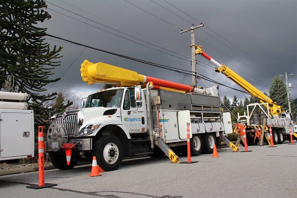 BC Hydro has halted planned outages for residential areas across B.C. as COVID-19 keeps more people at home. (Photo via BC Hydro)