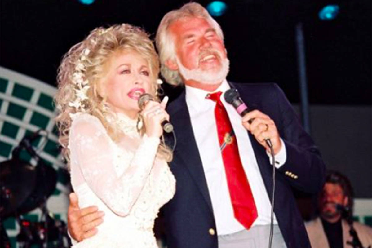 Country music icon Kenny Rogers, seen above performing with Dolly Parton, died Friday night, March 20. (Kenny Rogers Facebook photo)