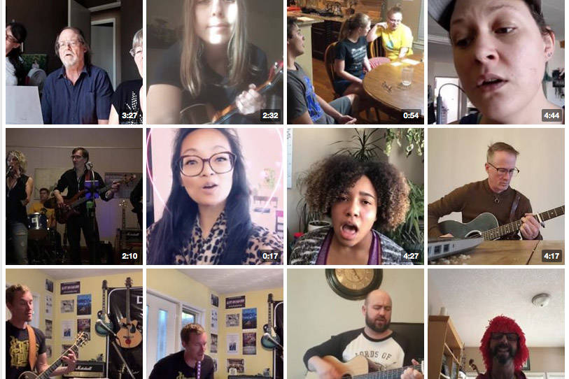 People from all over have sent in videos of them singing into their cameras, all in an effort to stay connected through music and the spirit of fun. The Facebook page was started by a man in Chilliwack.