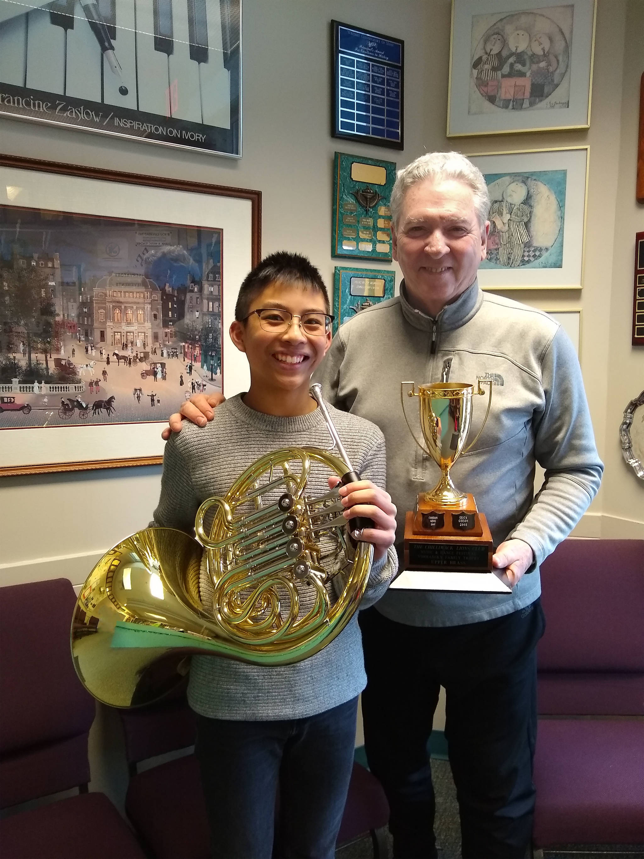 Langley French horn player earns fanfare at Chilliwack Lions Club Music Festival