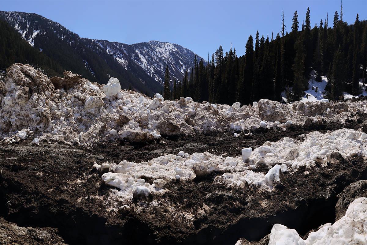 Avalanche debris. (Photo by Ben Nearingburg)