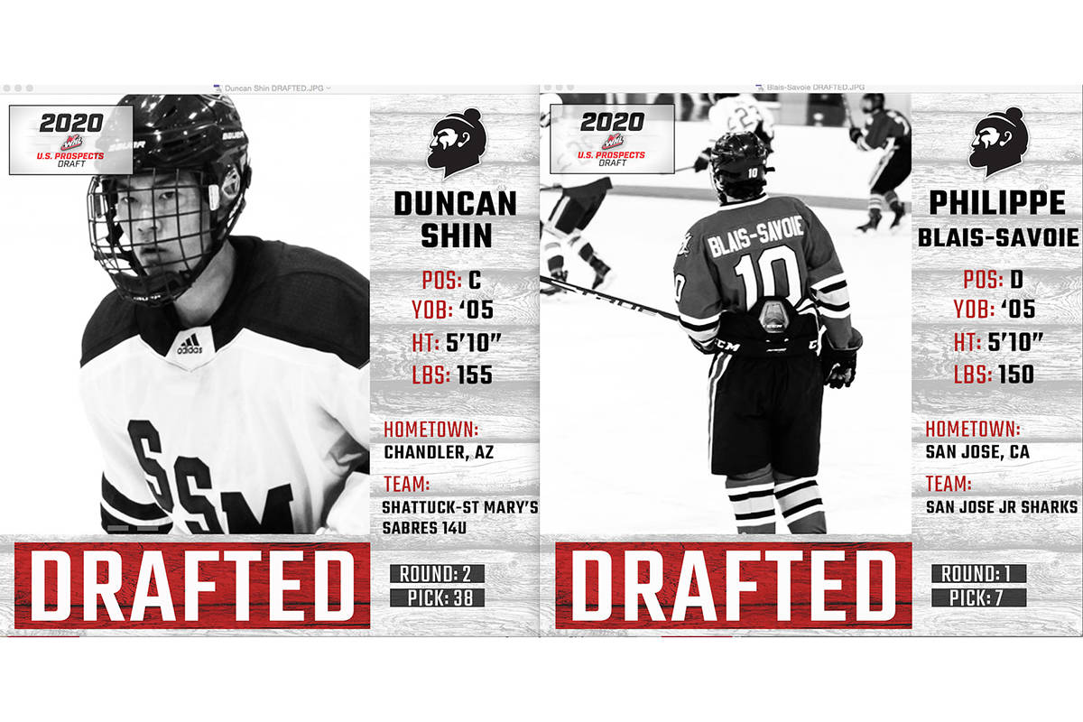 Giants drafted two Wednesday, March 25th (WHL)