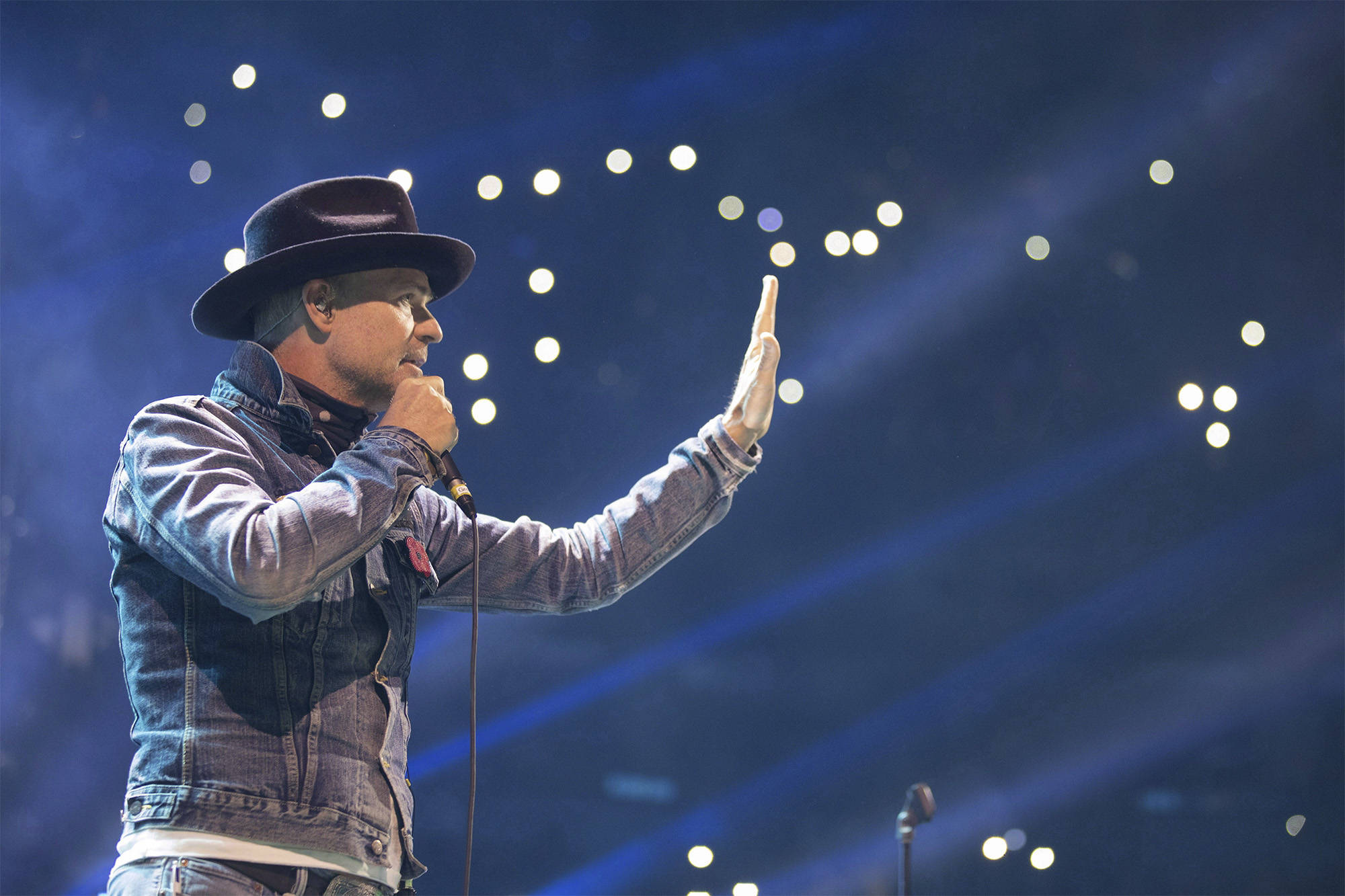Gord Downie performs at WE Day in Toronto on Wednesday, October 19, 2016. Chris Young/CP