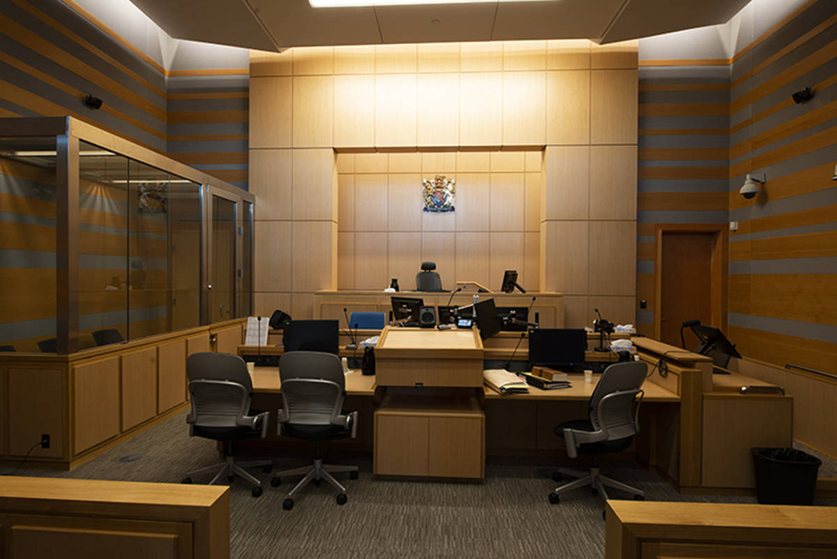 Interior of a Surrey court room. (Cliff MacArthur/provincialcourt.bc.ca)