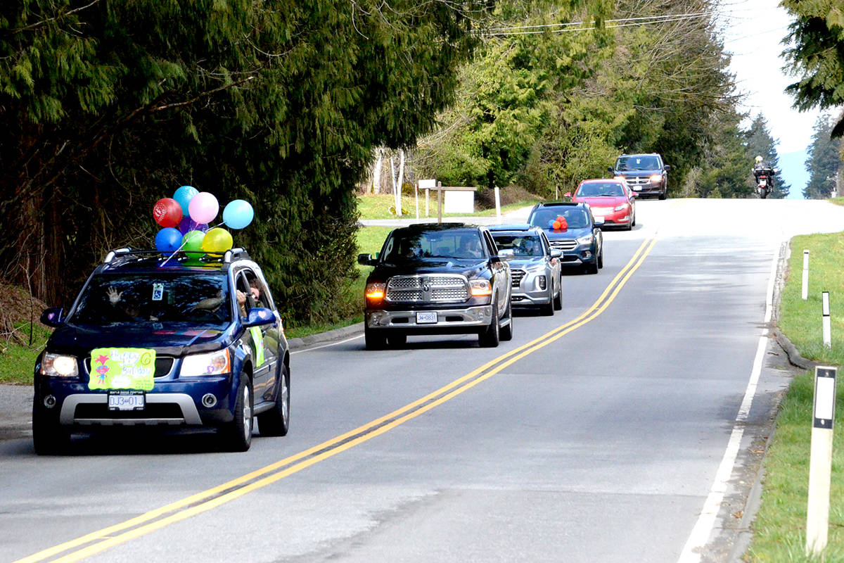 VIDEO: Young Langley residents celebrate their birthdays with personalized parades