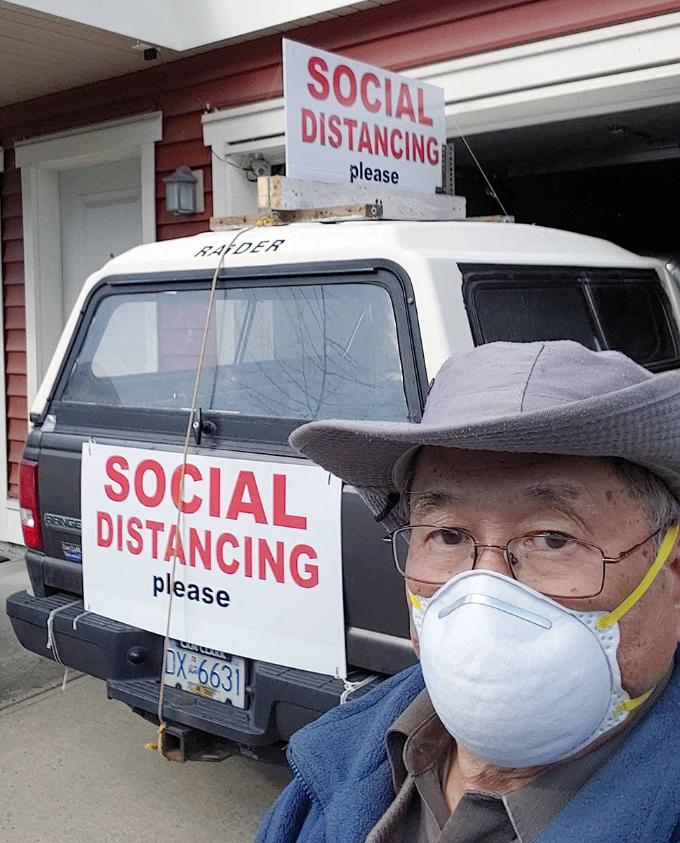 Gary Hee has been campaigning for free parking at Langley Memorial and other hospitals since 2018. Lately, he's been getting attention on social media because of the viral safety messages on his truck (Gary Hee/special to Langley Advance Times)