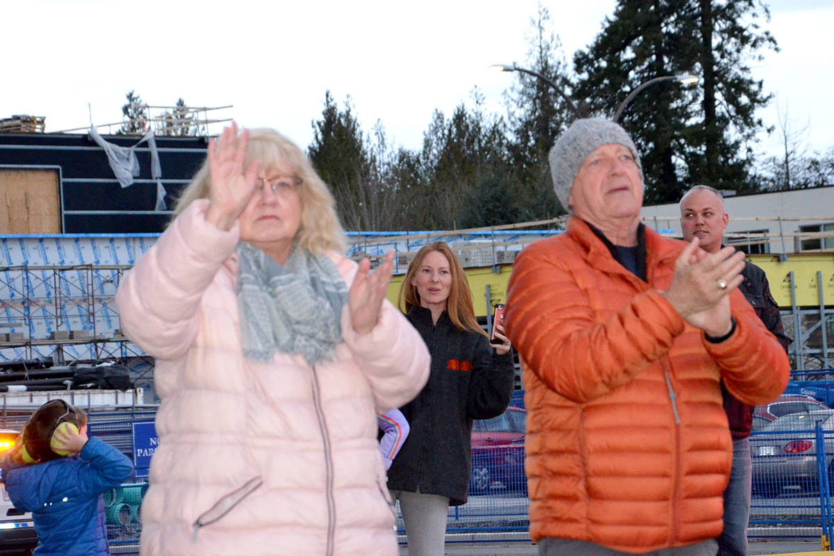 VIDEO: Langley makes some noise for health care workers