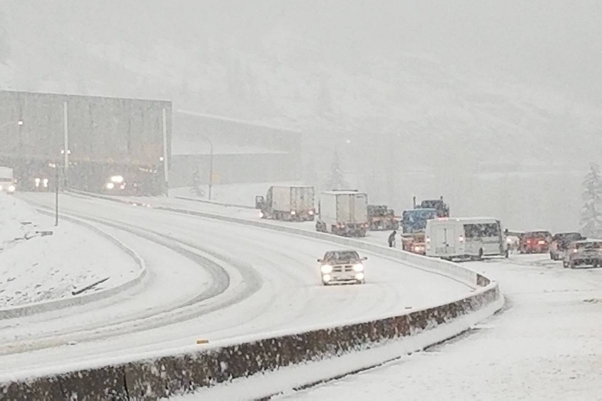 Drivers travelling on the Coquihalla Highway should continue to monitor Drive BC for changing driving conditions. (Contributed)