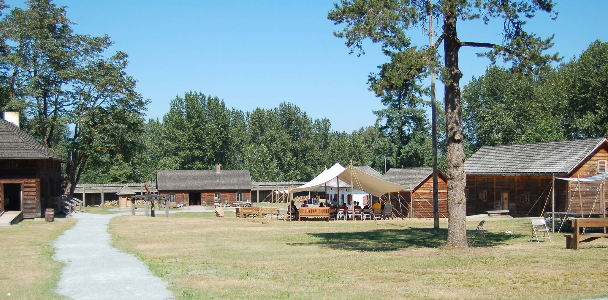 Historic Fort Langley National Historic Site, the birthplace of British Columbia. Jennifer Blyth photo