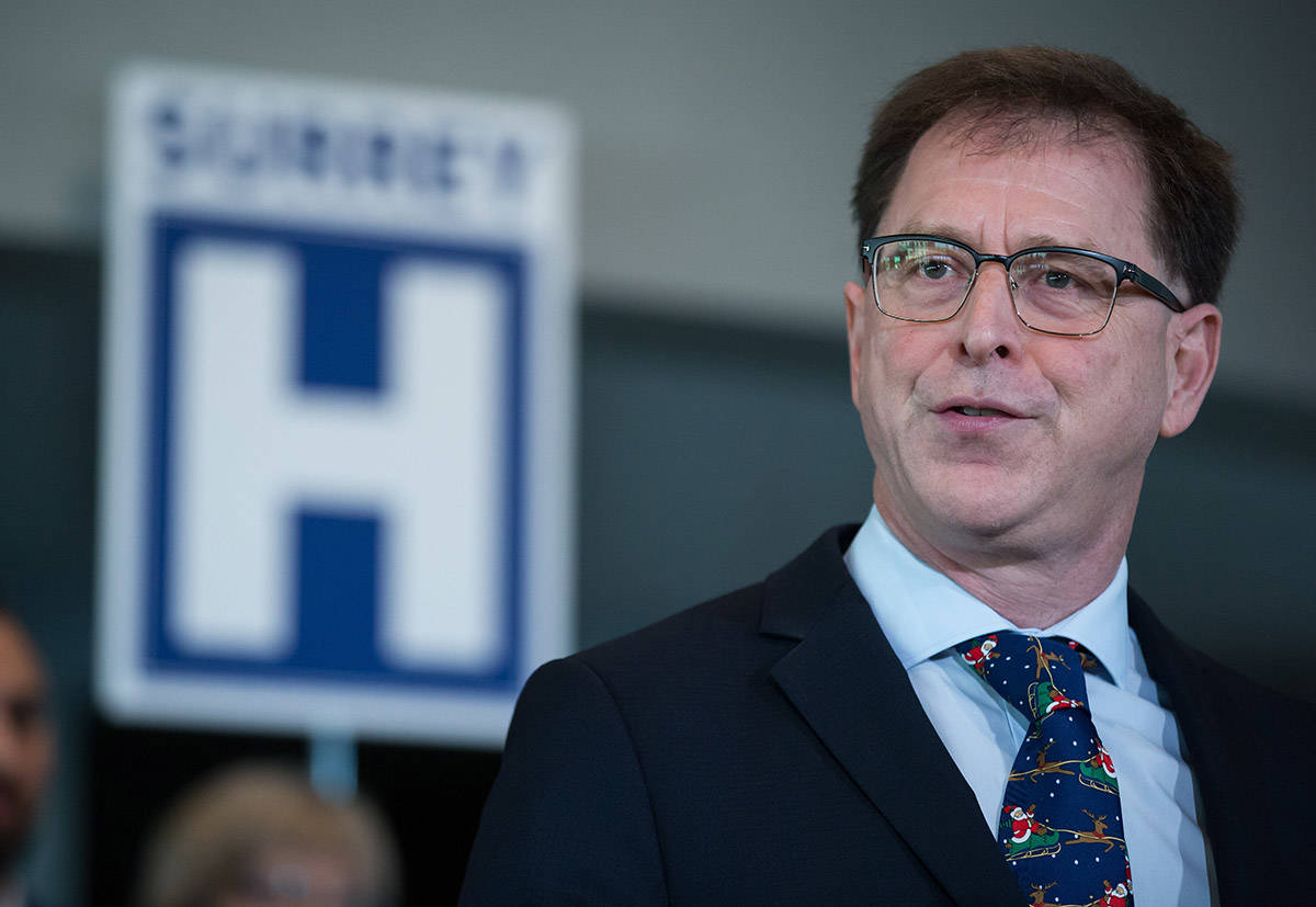 FILE – B.C. Health Minister Adrian Dix at a government announcement in Surrey on Monday, Dec. 9, 2019. THE CANADIAN PRESS/Darryl Dyck
