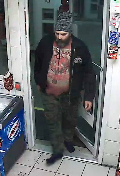 Police allege the pictured man stole cigarettes from a Petro Canada in the 5500 block of 200th Street on March 6. (Langley RCMP)