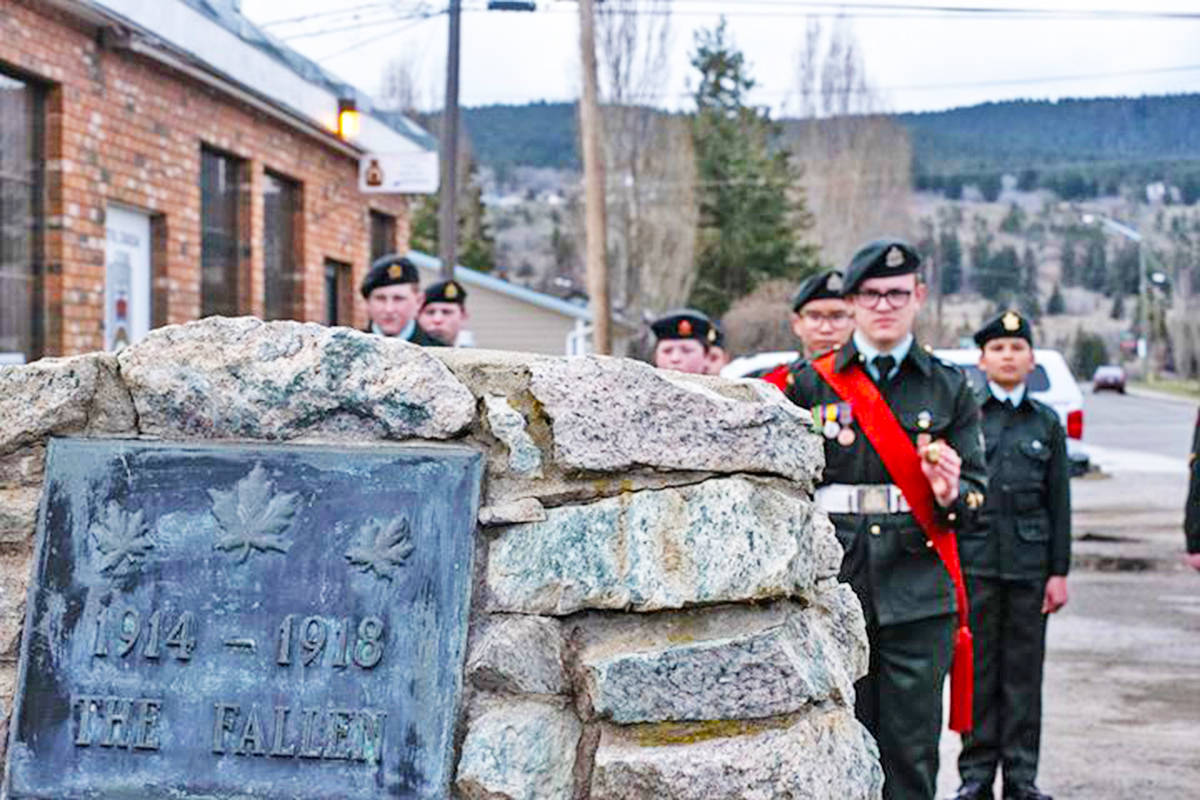 Cadets across Canada will be marking the 103rd anniversary of the Battle of Vimy Ridge virtually on April 9, 2020, due to COVID-19 pandemic social distancing restrictions and the idea originated in Williams Lake, B.C. (Billie Sheridan photo)