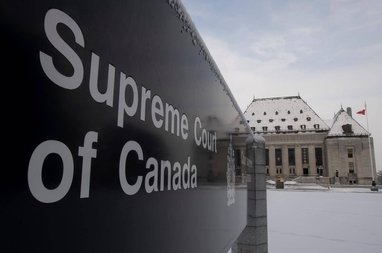 The Supreme Court of Canada is seen, Thursday January 16, 2020 in Ottawa. THE CANADIAN PRESS/Adrian Wyld