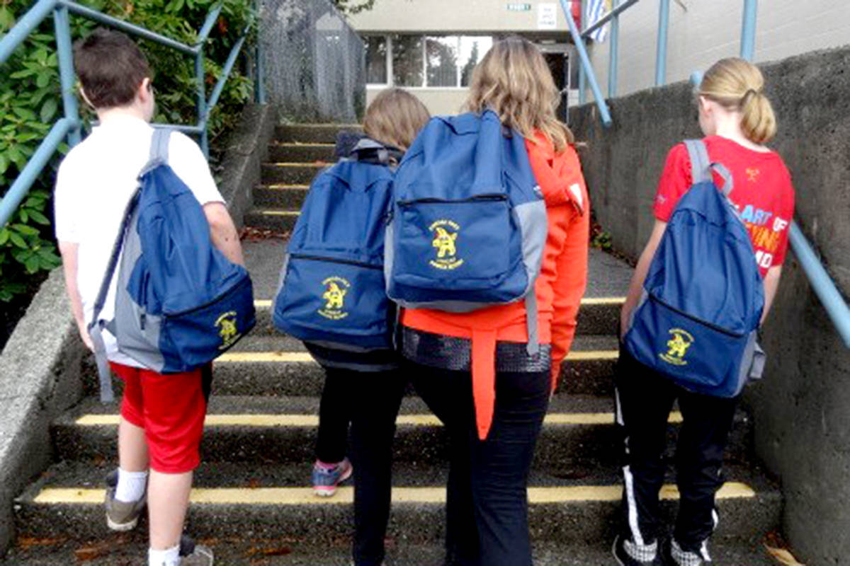 Starfish Backpack program allows students to take food home for their families over the weekend. (Langley Advance Times files)