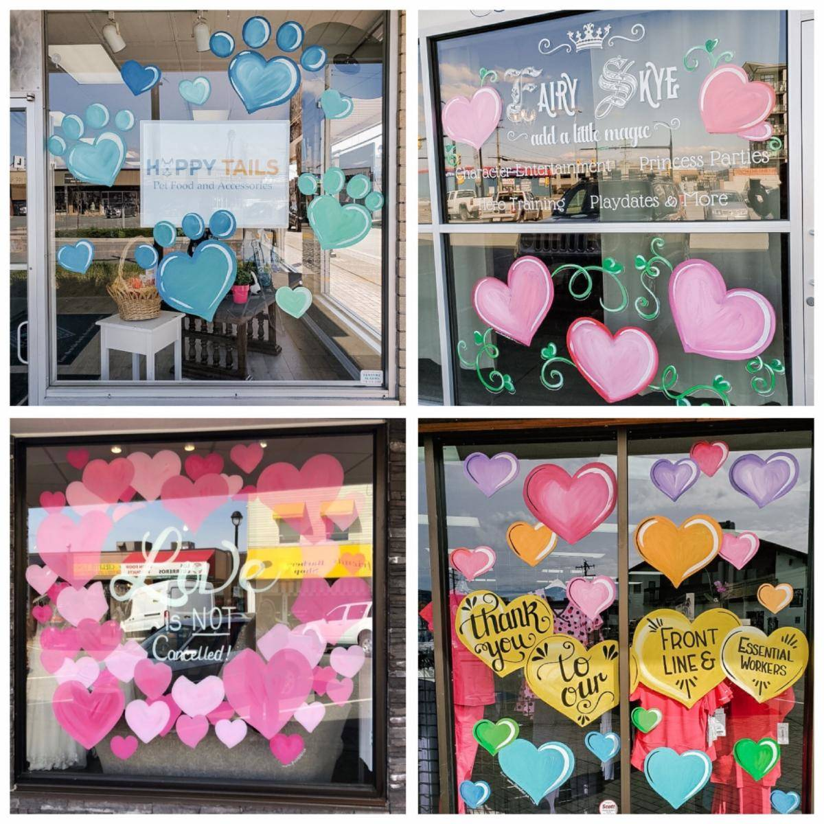 Examples of 'Community Strong' hearts (DLBA)