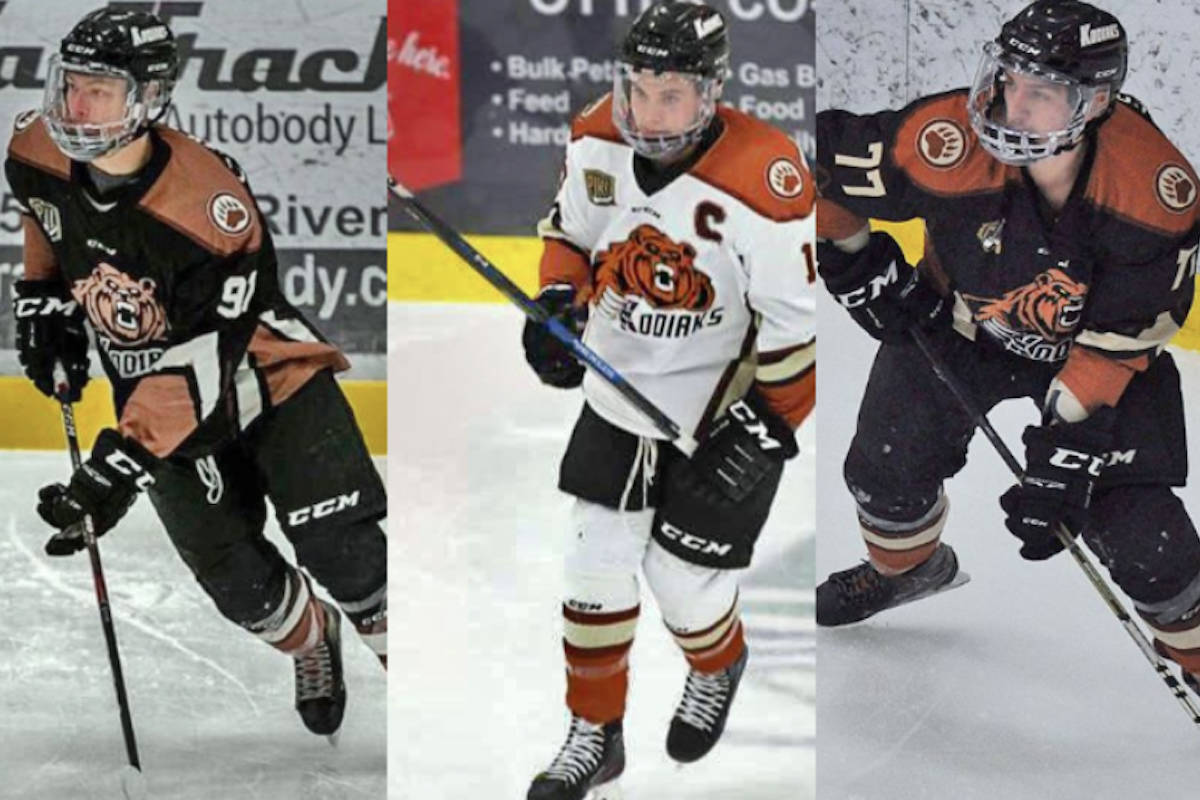 Three veteran players and one Aldergrove Kodiaks rookie have moved up the hockey ranks to new teams now that the PJHL season has come to an end.