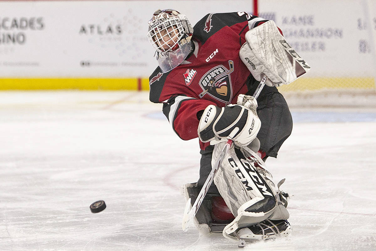 Coyotes have signed Vancouver Giants goaltender David Tendeck to a three-year entry-level contract. (Chris Relke/special to Langley Advance Times)