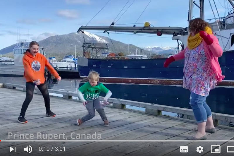 Mark Perry's new video features dancers from all over the world including Prince Rupert. (YouTube screenshot)