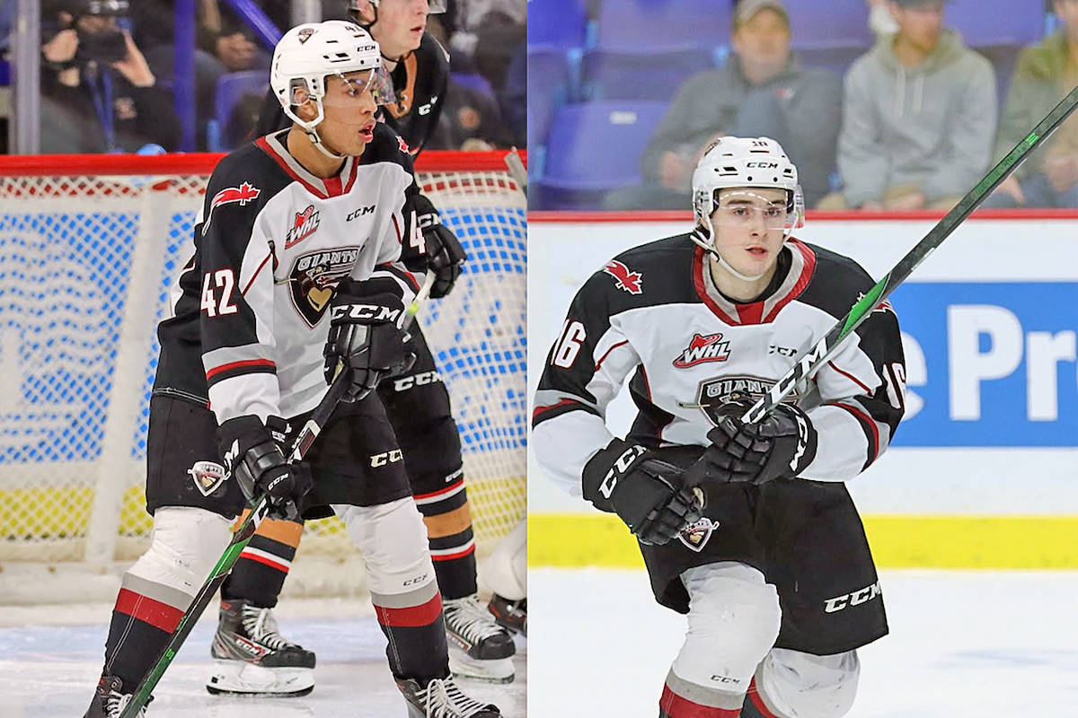 Two Vancouver Giants have cracked NHL Central Scouting's Final Draft Rankings List. 2002-born forward Justin Sourdif (was ranked 23rd among draft eligible North American skaters while fellow 2002-born forward Cole Shepard was ranked 149th. (file)