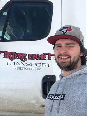 Long haul trucker Brennan Bateman is out on the road amid a pandemic and difficulties finding essential supplies. Submitted photo