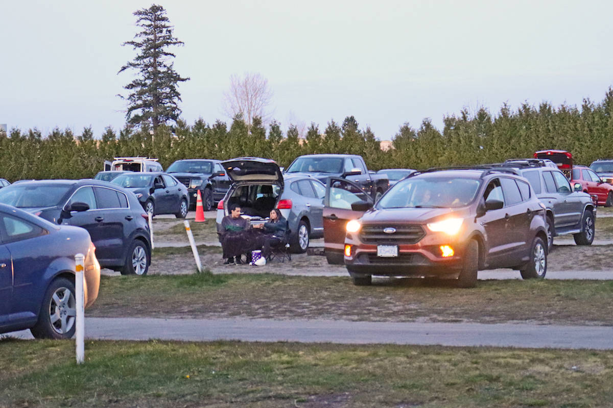 Aldergrove's Twilight Drive-In sees dozens of people attend outdoor movies each night, now that it has expanded its showtimes amid the COVID-19 pandemic. (Sarah Grochowski photo)