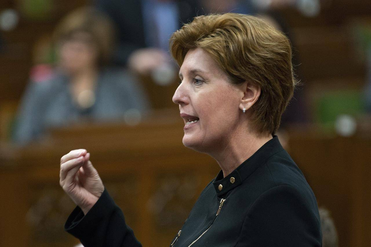 Agriculture Minister Marie-Claude Bibeau responds to a question during Question Period in the House of Commons, Monday April 29, 2019 in Ottawa. Bibeau is not worried about food shortages overall but acknowledging really challenges in the industry. THE CANADIAN PRESS/Adrian Wyld