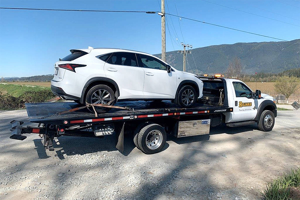 An SUV was impounded for seven days after the driver was caught speeding by Ridge Meadows RCMP this week. (Special to The News)