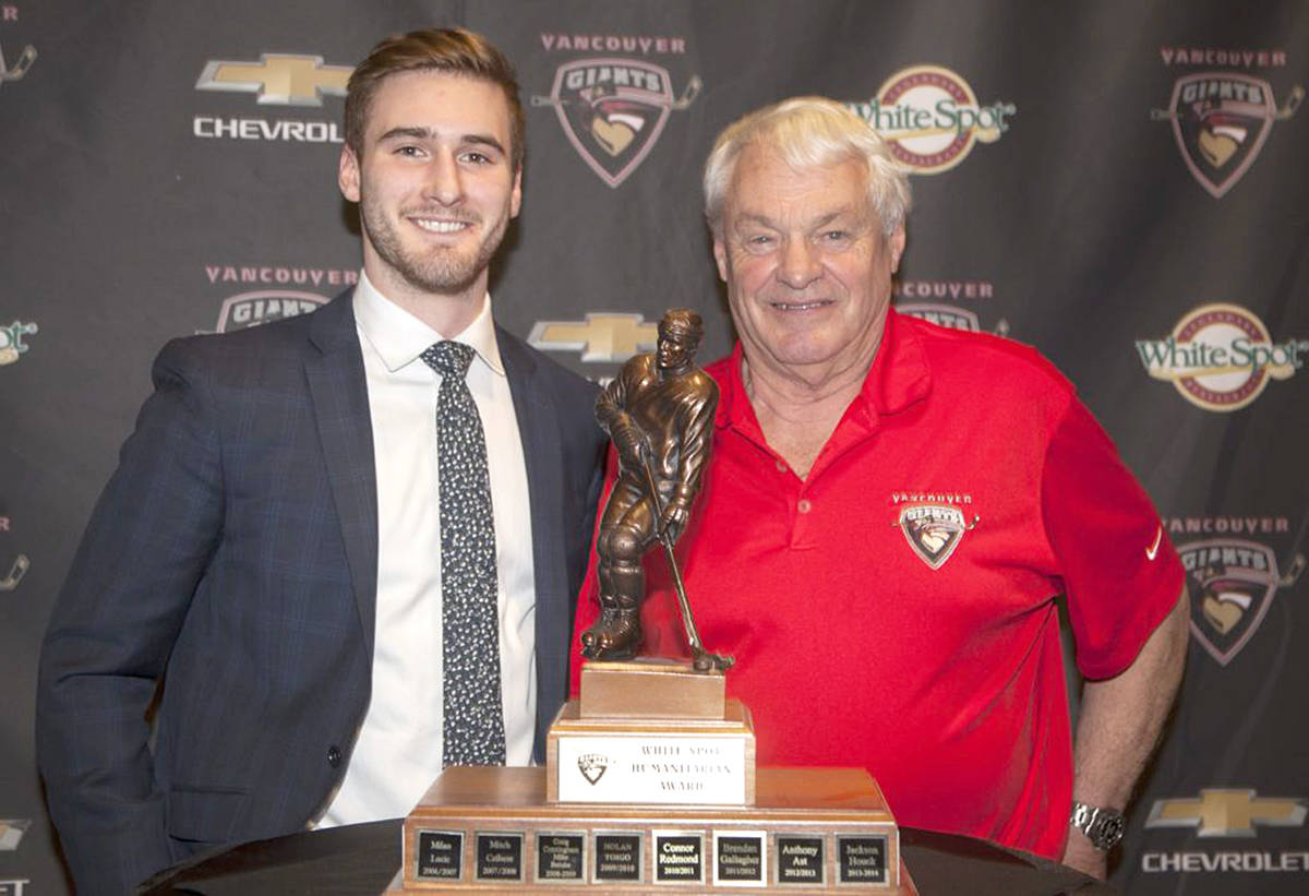 Last year, Vancouver Giants forward Jared Dmytriw was crowned the team's White Spot humanitarian of the year award. (Vancouver Giants/Special to Langley Advance Times)