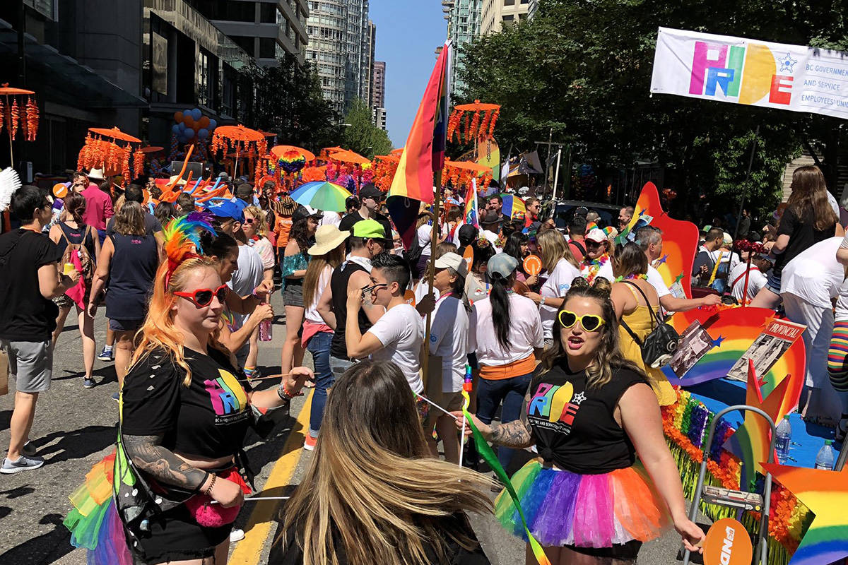 The Pride Parade kicked off in Vancouver Sunday, Aug. 4, 2019. (Stephanie Smith/Twitter)