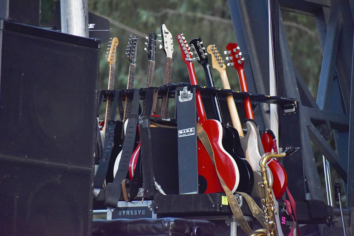 Tools of the trade at the 2019 Vancouver Island MusicFest. Photo by Terry Farrell