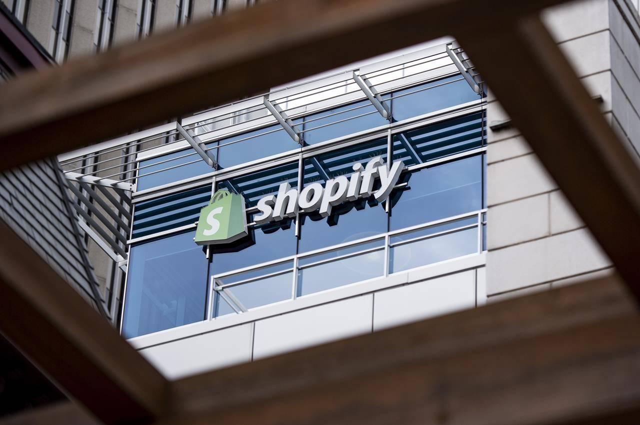 The Ottawa headquarters of Canadian e-commerce company Shopify are pictured on Wednesday, May 29, 2019. Shopify Inc. is offering merchants interest-free, cash advances to help businesses using its e-commerce products cope with the impacts of COVID-19. THE CANADIAN PRESS/Justin Tang