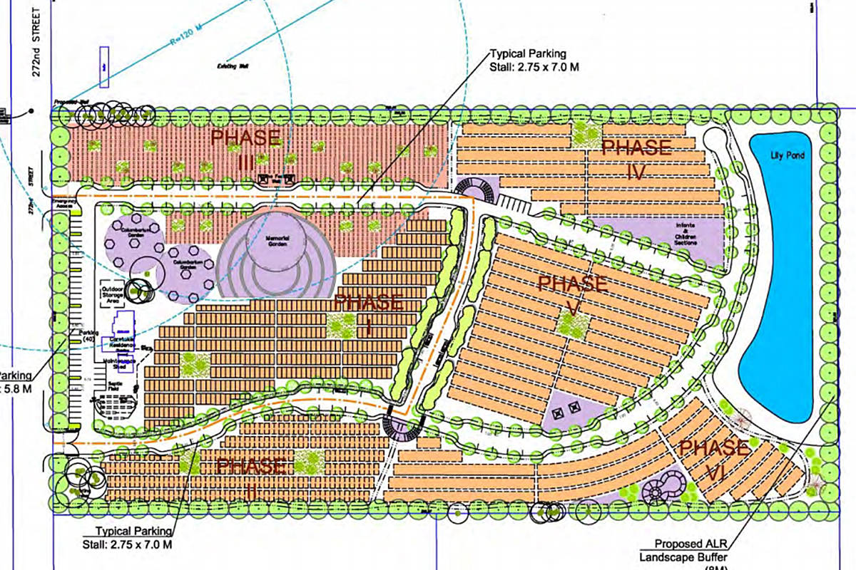 A rendering of the proposed new cemetery planned for South Aldergrove.