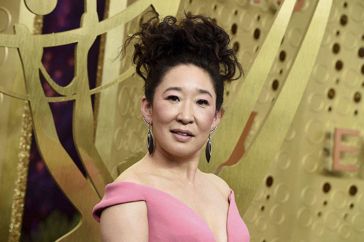 Sandra Oh arrives at the 71st Primetime Emmy Awards on Sunday, Sept. 22, 2019, at the Microsoft Theater in Los Angeles. Canadian film will be celebrated this week with some online streaming initiatives spurred by the COVID-19 pandemic. THE CANADIAN PRESS/Jordan Strauss/Invision/AP
