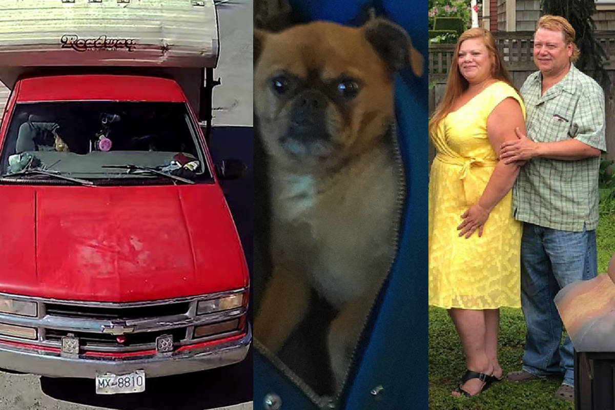 IHIT is looking for help to find April Parisian (at right with her boyfriend Paris Margesson) last communicated with on March 28, 2020. She may have been with her red Chevrolet truck and her brown pug. (RCMP)