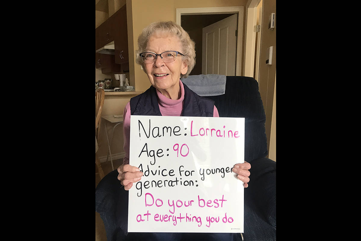 PHOTOS: B.C. seniors offer advice to younger generations