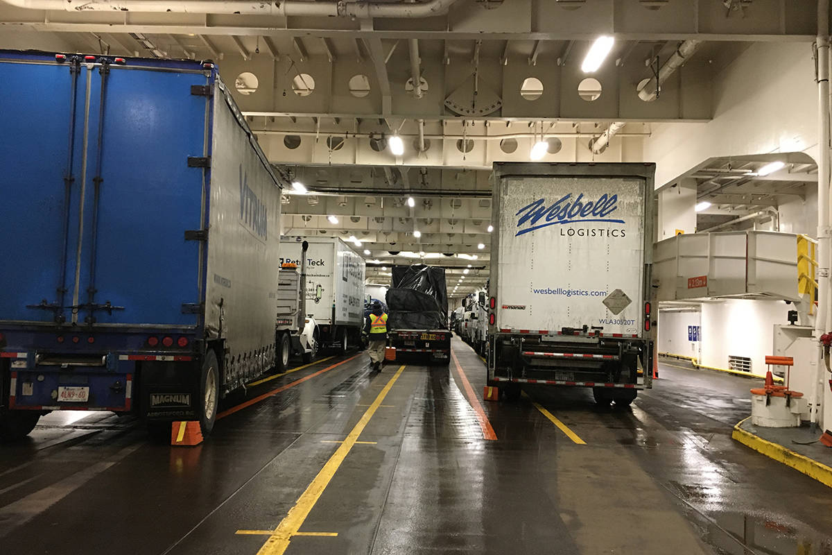 BC Ferries is adding more cargo sailings on the Tsawwassen to Swartz Bay Route from Monday to Friday, which limit passenger capacity to 84. (Provided by BC Ferries)