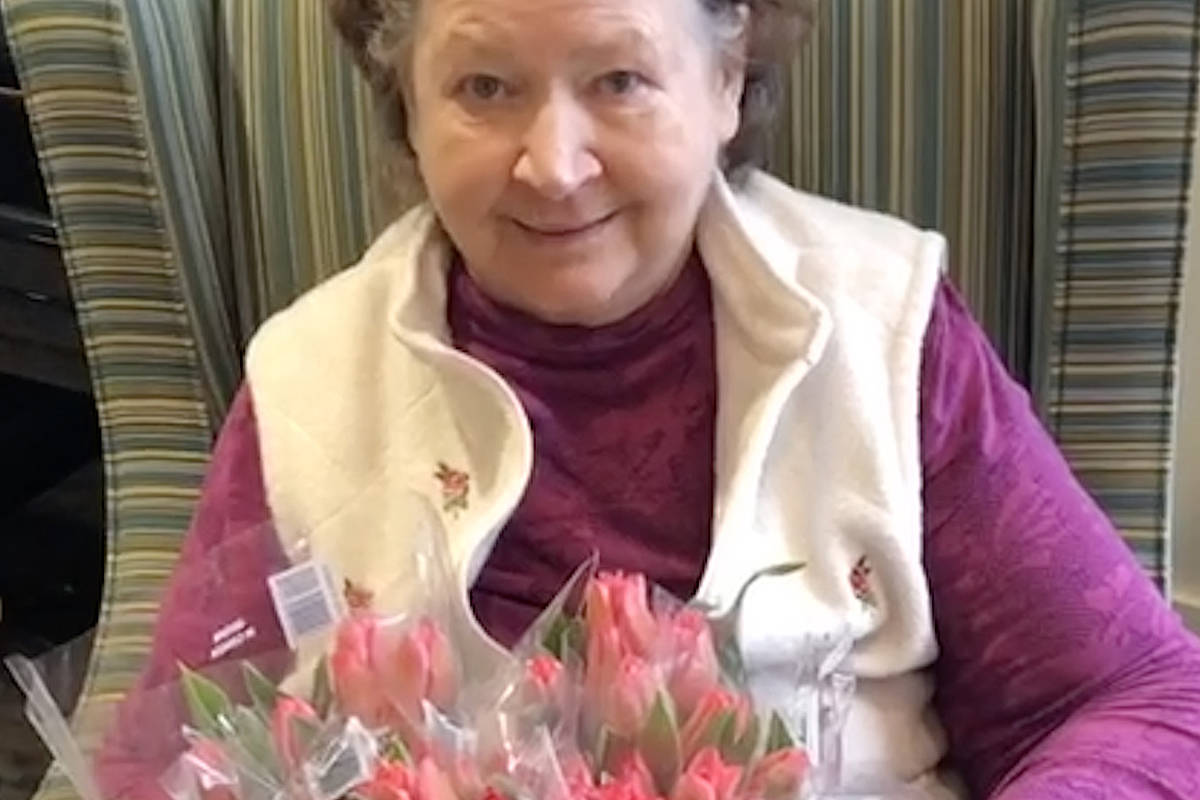 Dutch liberation marked with tulips at Langley care home