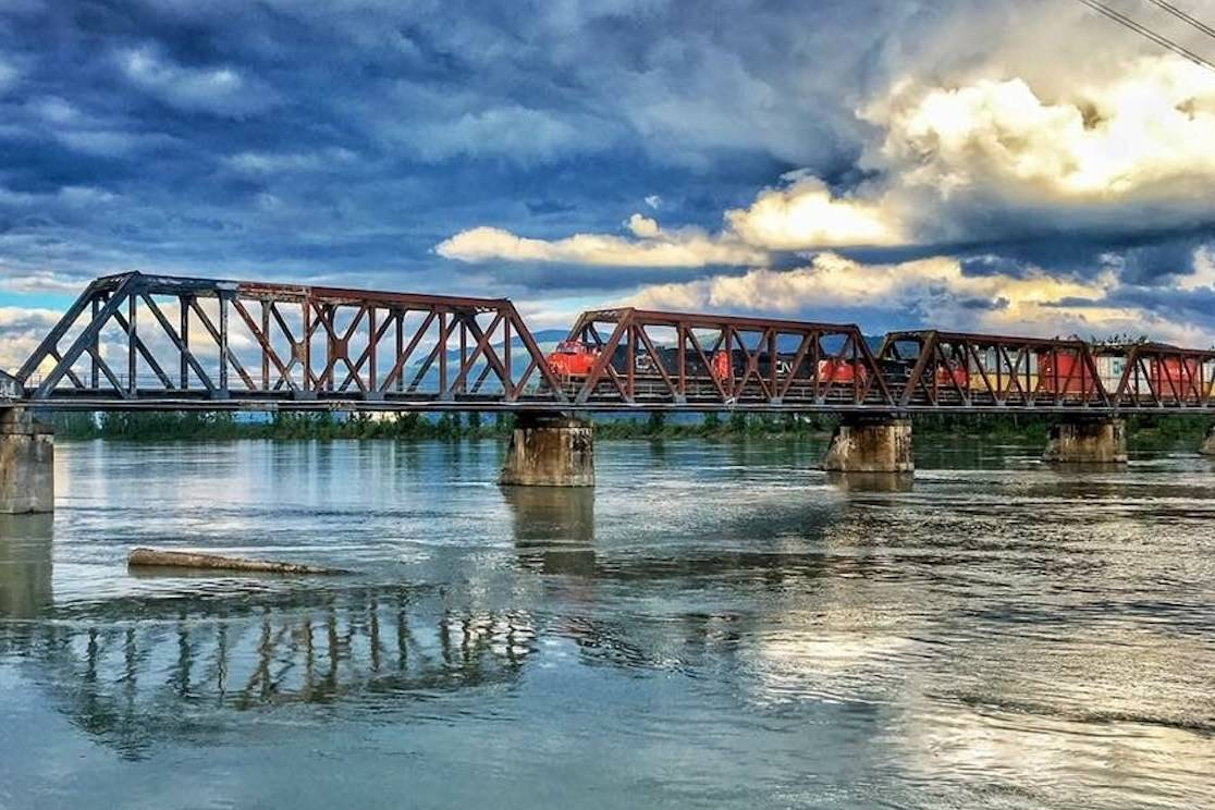The Mission Bridge links the communities of Mission and Abbotsford across the Fraser River. (Alexandra Fontaine/ Amateur Photography Entry)