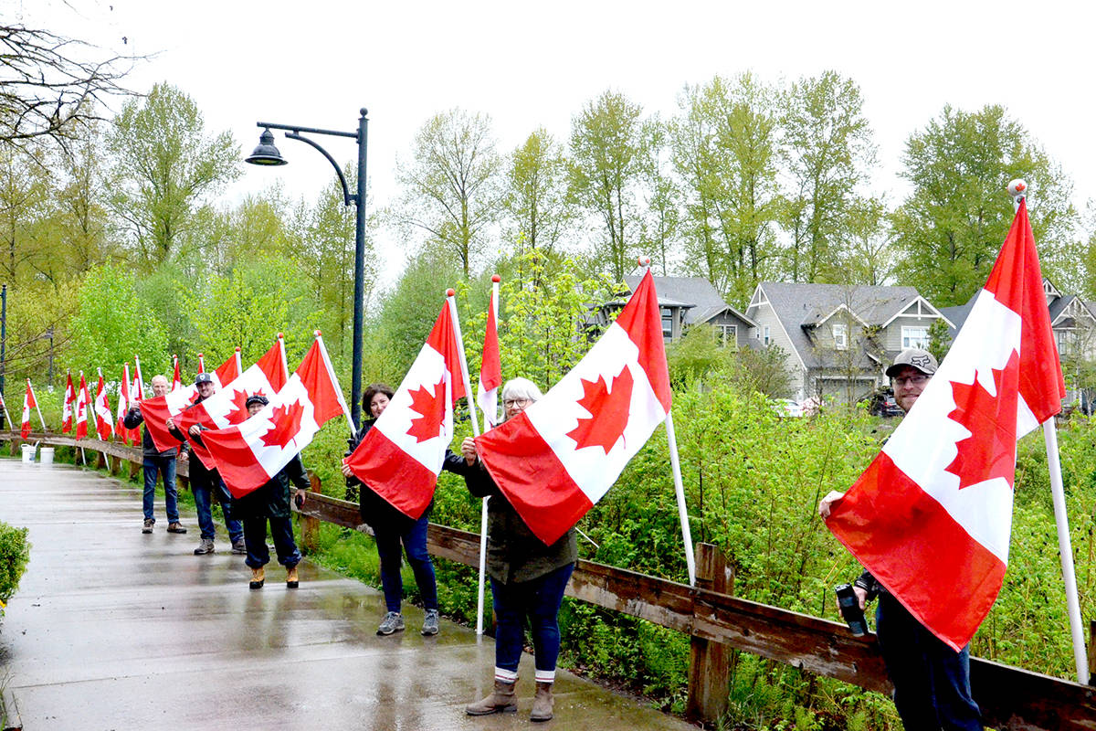 Fifty flags fly in Fort Langley neighbourhood