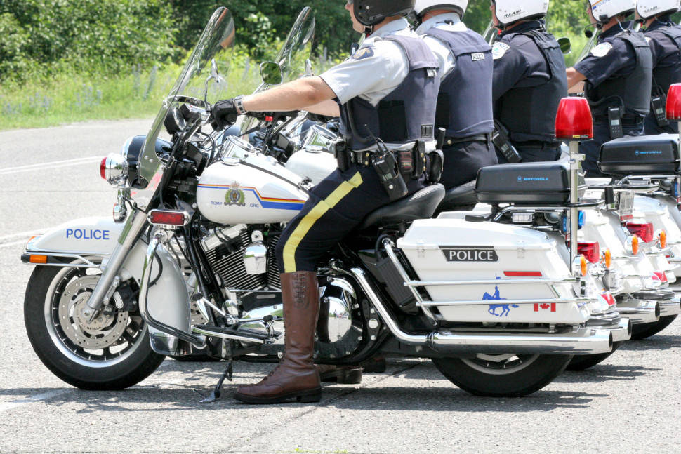 Comox Valley RCMP responded to a report of a motorcyclist riding what appeared to be a police vehicle. Photo via rcmp-grc.gc.ca