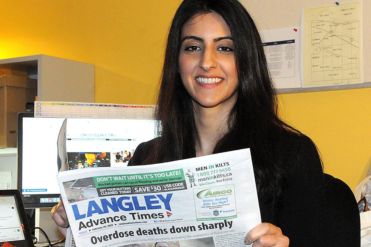 Langley news media, reporter honoured by peers