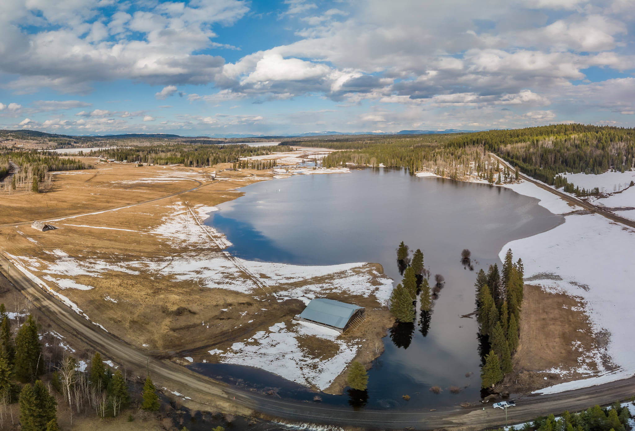 Drone view of Rose Lake Ranch. (Phillip Hartmann photo)