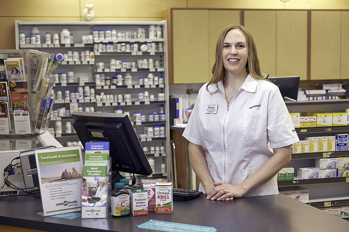 Aleena Hildebrand, Pharmacy Manager, Save-On-Foods Willoughby (Save-On-Foods/special to Langley Advance Times)