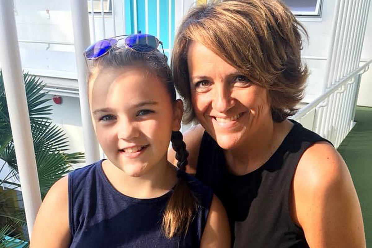 Advance Times publisher Lisa Farquharson and her daughter, Grace, now 13. (Special to Langley Advance Times)